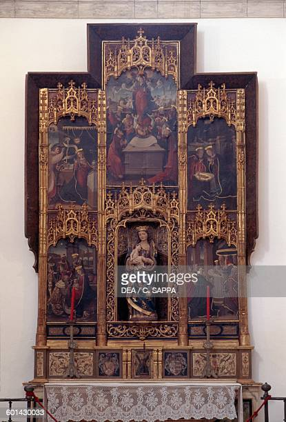 Altarpiece dedicated to the Virgin Mary Collegiate church of Our Lady of the Assumption 15301539 Osuna Andalusia Spain