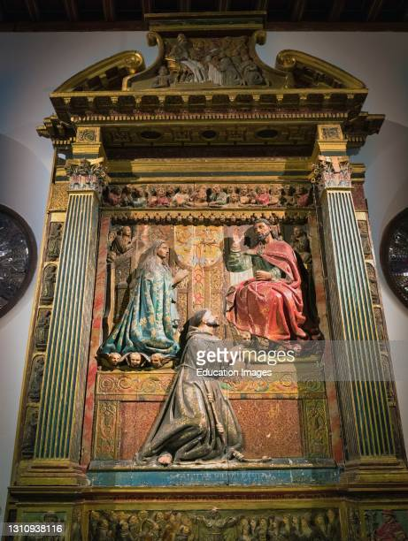 Altarpiece in the ancient Sinagoga Mayor, or Main Synagogue, now the Convent of Corpus Christi. It dates from circa 1600 and is the work of an...