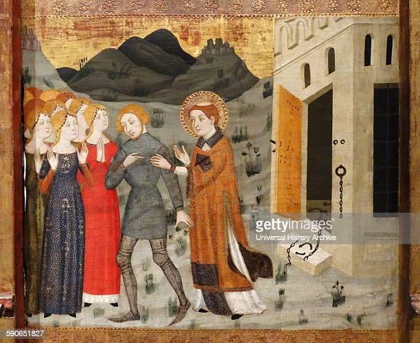 Altarpiece of Saint Stephen by Jaime Serra Catalonian painter Dated 14th Century