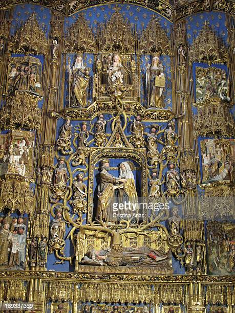 Altarpiece of the Chapel of Santa Ana also known as Chapel of the Conception, is a work in late Gothic style by Diego de Siloé sculptor between 1486...