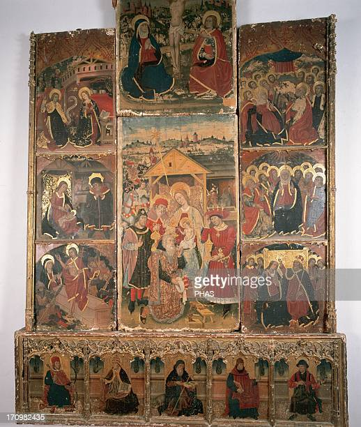Altarpiece of the Epiphany 15th century Diocesan Museum Calatayud Spain