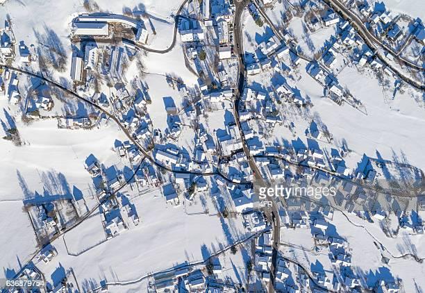 Altaussee, Winter Village covered in Snow