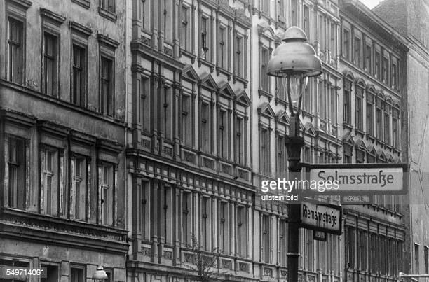Altbaufassaden der Gründerzeit in Kreuzberg Reimannstrasse Ecke Solmstrasse