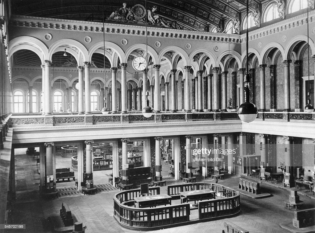 Alte Borse Berlin Innenansicht Hauptsaal 1863 Erbaut Undatiert
