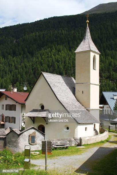 Alte Pfarrkirche Sulden ist ein Bergdorf mit etwa 400 Einwohnern im Suldental im westlichen Teil Südtirols Es gehoert zur Gemeinde Stilfs liegt auf...