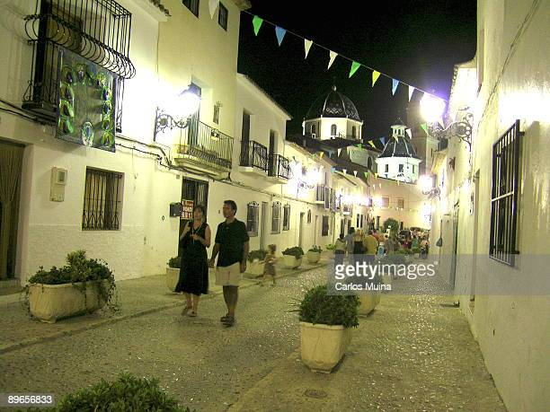 Altea Alicante Night ambiance in the old town