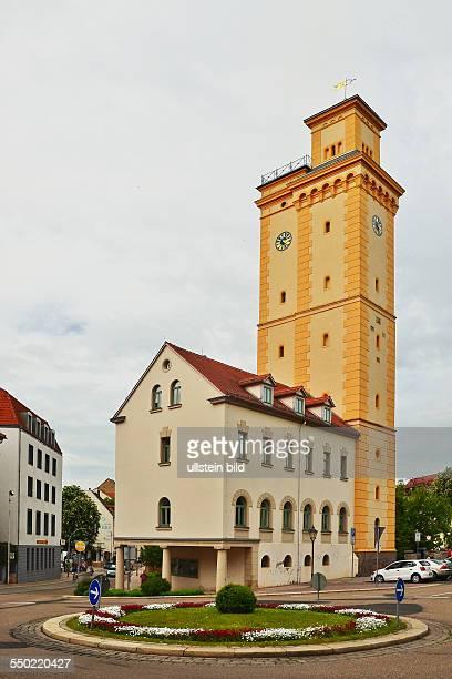 Altenburg der 1844 bis 1845 im Stil eines italienischen Campanile errichtete Kunstturm diente bis 1878 der Wasserversorgung der Stadt