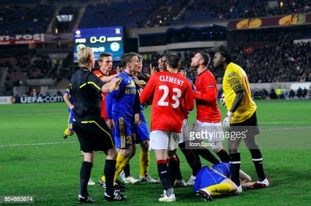 Altercation MArko SIMIC / Apoula EDEL PSG / BATE Borisov 1/16 de finale retour de Ligue Europa
