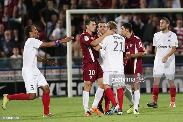 Altercation Mathieu DUHAMEL / Thibault MOULIN Metz / Chateauroux 4e journee de Ligue 2 Fred Marvaux / Icon Sport