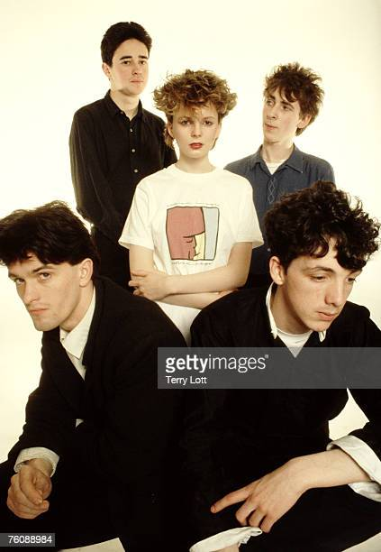 Altered Images fronted by Clare Grogan pose for the camera at the Sony Music Photo Studio London