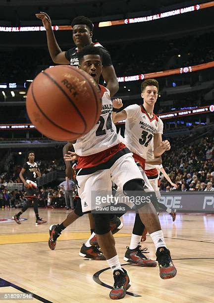 Alterique Gilbert of the West team drives to the basket against the East team during the 2016 McDonalds's All American Game on March 30 2016 at the...