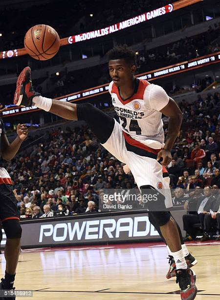 Alterique Gilbert of the West team plays against the East team during the 2016 McDonalds's All American Game on March 30 2016 at the United Center in...