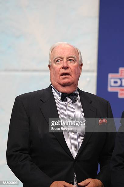 Alternate Governor Bill Torrey of the Florida Panthers looks on during the first round of the 2009 NHL Entry Draft at the Bell Centre on June 26 2009...
