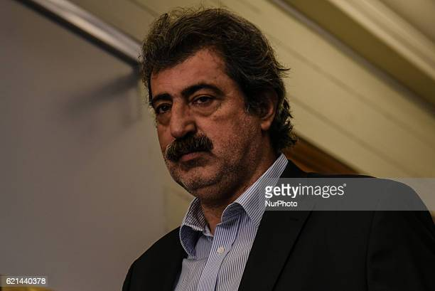 Alternate Minister of Health Pavlos Polakis attends kick up meeting of the new cabinet of PM Alexis Tsipras in Athens on November 6 2016