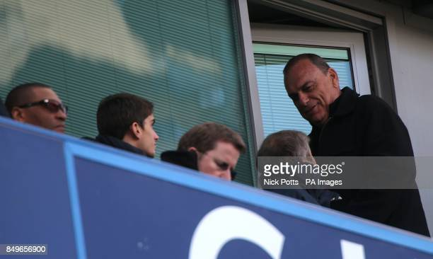 *Alternative Crop* Avram Grant with Chelsea owner Roman Abramovich and technical director Michael Emenalo in the stands