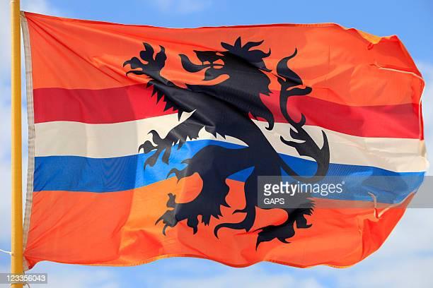 alternative dutch flag waving in the wind - nederlandse cultuur stockfoto's en -beelden
