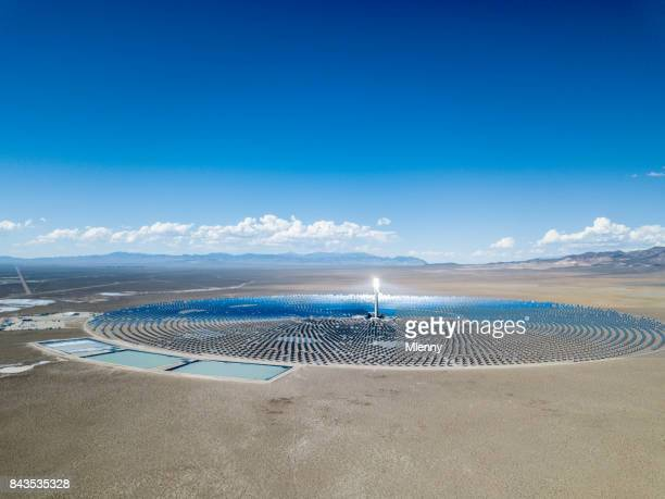 alternative energy solar thermal power station - solar mirror stock pictures, royalty-free photos & images
