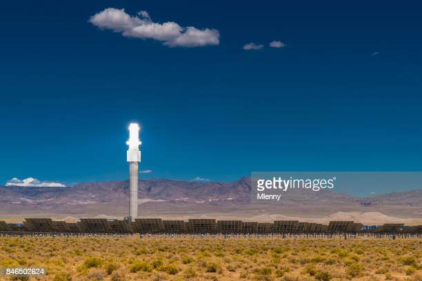 alternative energy solar thermal power station - tonopah,_nevada stock pictures, royalty-free photos & images