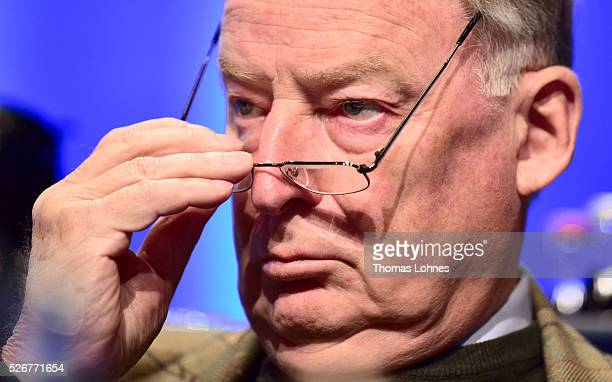 Alternative fuer Deutschland deputy chairman Alexander Gauland pictured at he party's federal congress on May 01 2016 in Stuttgart Germany The AfD a...