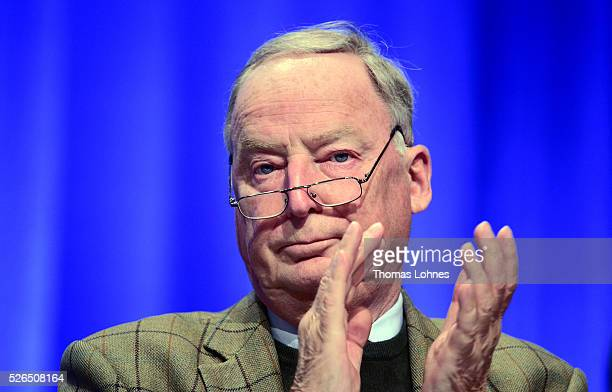 Alternative fuer Deutschland deputy chairman Alexander Gauland pictured at the party's federal congress on April 30 2016 in Stuttgart Germany The AfD...