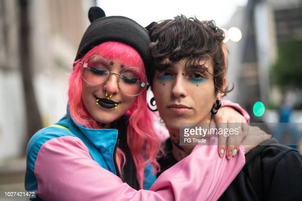 Alternative Lifestyle Young Couple Portrait