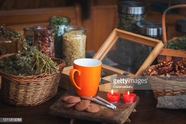 alternative medicine store products - stock photo - cannabis store stock pictures, royalty-free photos & images