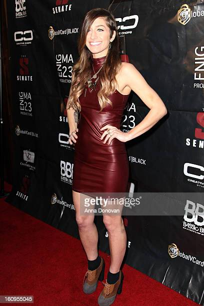 Alternative rock musician Gabrielle Wortman attends the Senate Music Group's Annual Pre-Grammy Gala at The Conga Room at L.A. Live on February 7,...