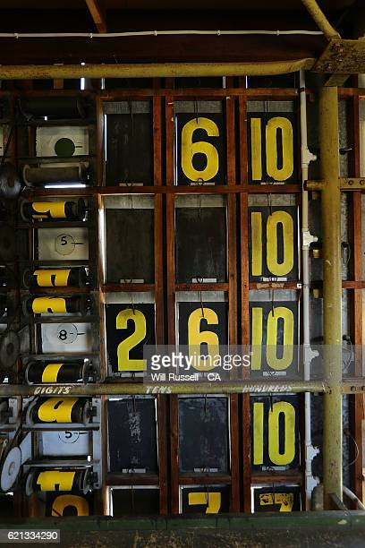Alternative view from inside the old scoreboard during day four of the First Test match between Australia and South Africa at WACA on November 6 2016...