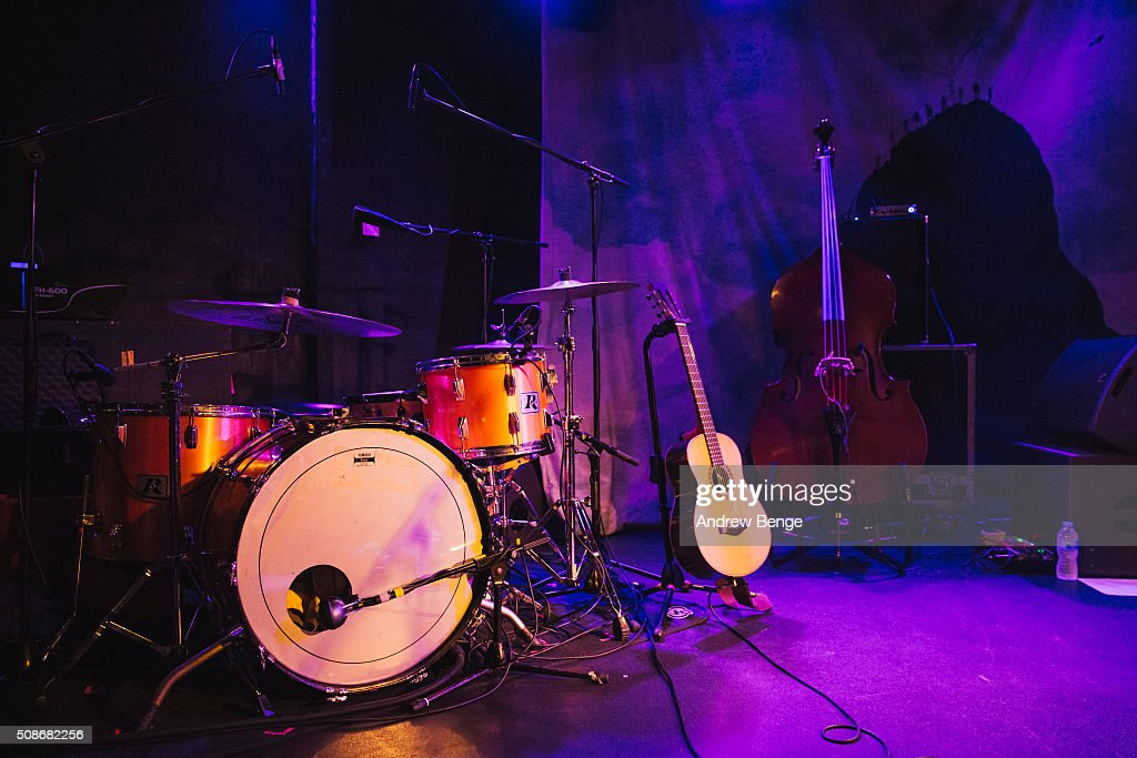 Alternative view of the stage for Villagers at Brudenell Social Club on February 3, 2016 in Leeds, England.