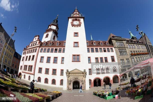 Altes Rathaus Markt Chemnitz Sachsen Deutschland