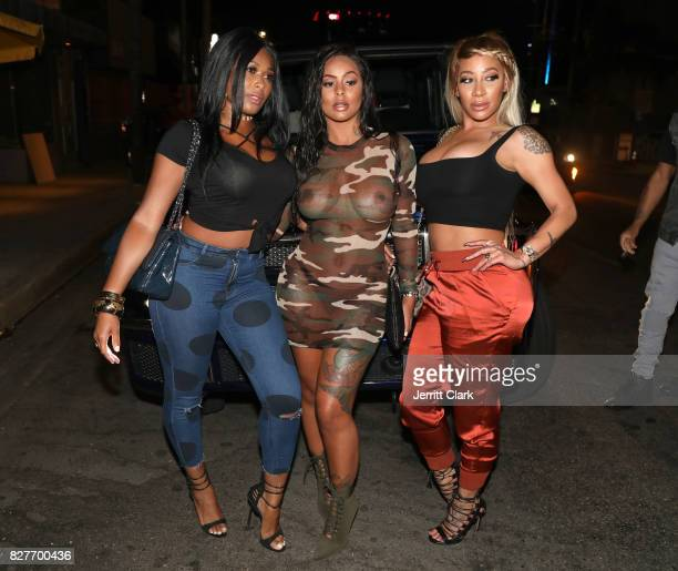 Althea Heart Alexis Skyy and HazelE attend Moula Mondays Hosted By Hazel E And Alexis Skyy at The Diamond District on August 7 2017 in Los Angeles...