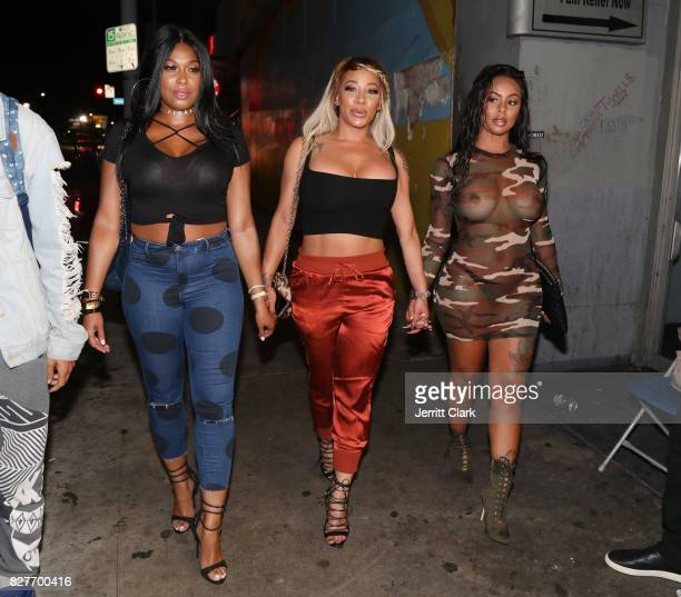 Althea Heart HazelE and Alexis Skyy attend Moula Mondays Hosted By Hazel E And Alexis Skyy at The Diamond District on August 7 2017 in Los Angeles...