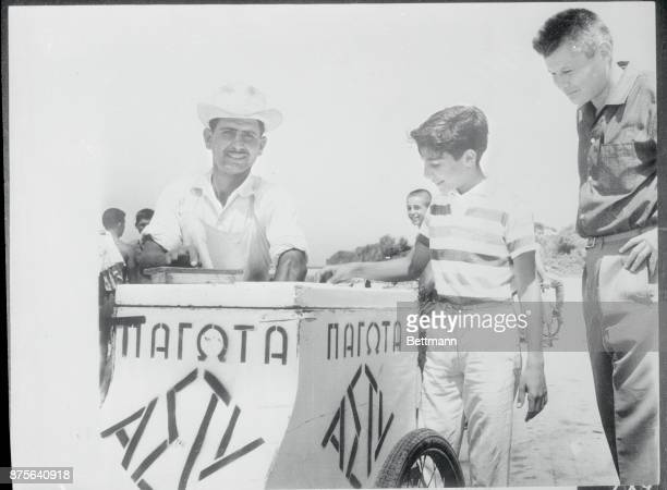 Although he could get plenty of ice cream aboard his father's yacht young Alexander Onassis son of the Greek shipping magnate Aristotle Onassis...