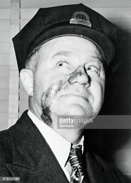 Although severely wounded in the face and neck Ed miller associate warden at Alcatraz Prison stayed in the fight during the three day prison riot and...