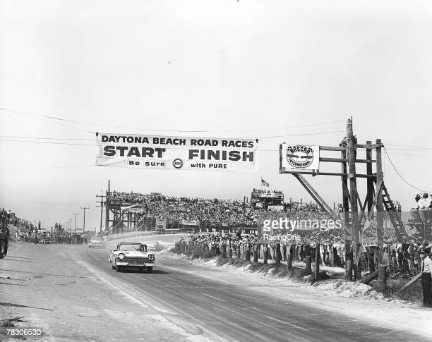 Although the Daytona Beach course in Daytona Florida was a temporary track built on the beach and a stretch of public highway Bill France Sr and...