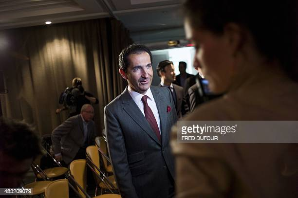 Altice group's Chairman Patrick Drahi arrives to give a press conference on April 7 2014 in Paris Vivendi decided on two days before to accept the...