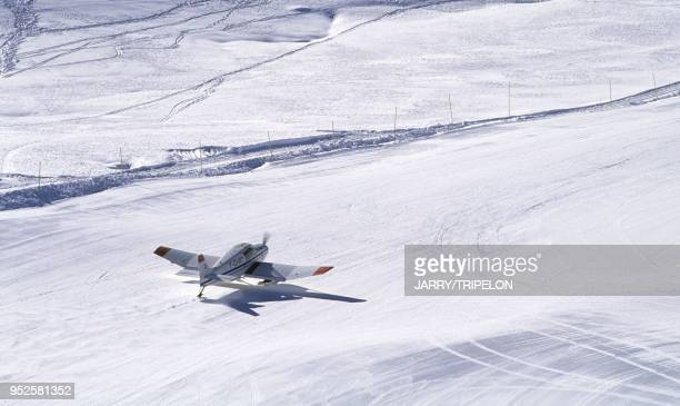 altiport Val Thorens Domaine skiable des Trois Vallees Vallee des Belleville departement Savoie region RhoneAlpes France mountain airfield Val...