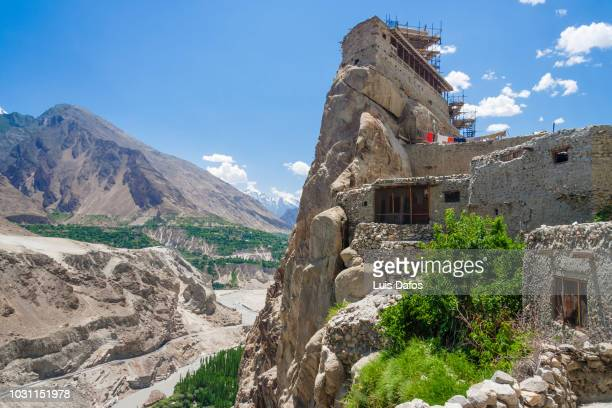 altit fort, hunza valley - gilgit stock pictures, royalty-free photos & images
