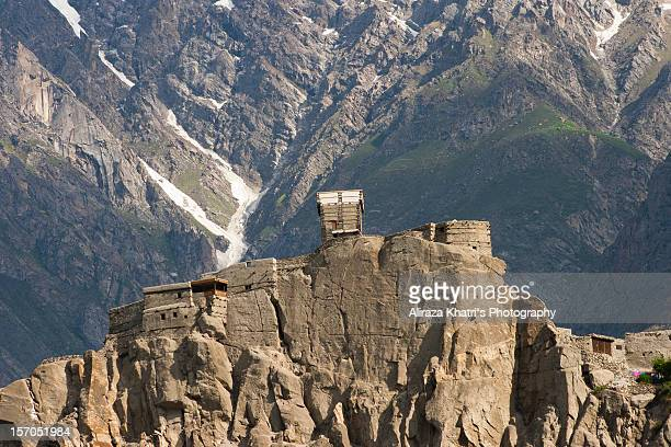 altit fort - hunza valley stock pictures, royalty-free photos & images