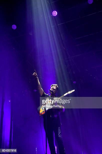 AltJ performs on the Pavilion stage during the 2017 Panorama Music Festival Day 2 at Randall's Island on July 29 2017 in New York City