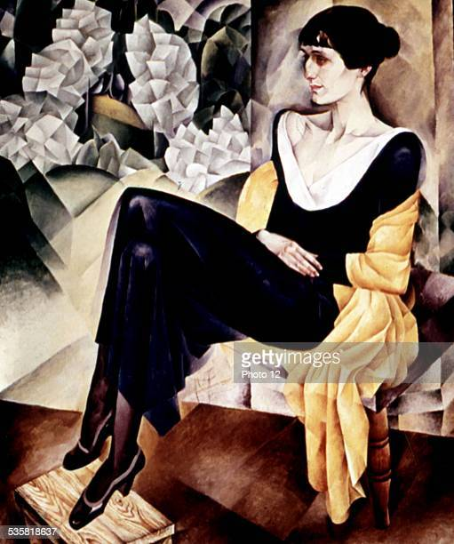 NI Altman Portrait of writer and poetess Anna Akhmatova USSR Moscow Tretiakov gallery