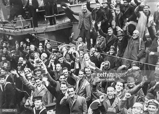 AltmarkZwischenfall'Das Versorgungsschiff 'Altmark' des Panzerkreuzers 'Admiral Graf Spee' das mit britischen Gefangenen an Bord von Südamerika...