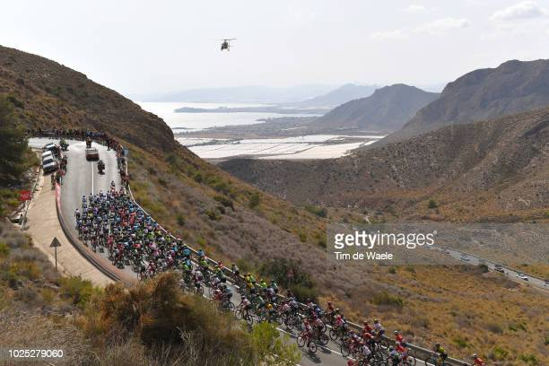 Alto Del Cedacero / Landscape / Peloton / Mountains / Mediterranean Sea / during the 73rd Tour of Spain 2018 Stage 6 a 1557km stage from HuercalOvera...