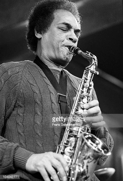 Alto sax player Jimmy Lyons performs on stage at BIM Huis on May 4 1984 in Amsterdam, Netherlands.