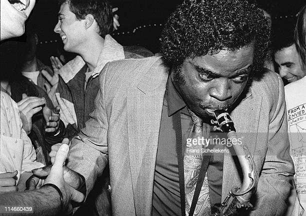 Alto sax player Maceo Parker performs live on stage at Paradiso in Amsterdam, Netherlands on 29th June 1998.