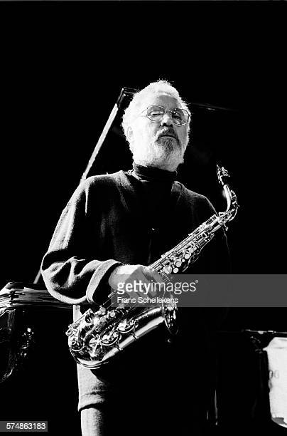 Alto saxophone player Lee Konitz performs on November 19th 1992 at the BIM huis in Amsterdam the Netherlands