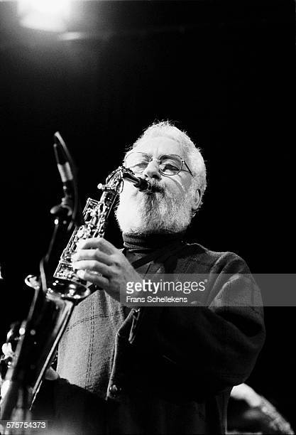 Alto saxophone player Lee Konitz performs on November 19th 1992 at the BIM huis in Amsterdam Netherlands