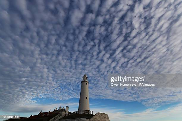 Altocumulus clouds above St Mary's Lighthouse in Whitley Bay as an Arctic cold spell blowing in from the north looks set to cause temperatures to...