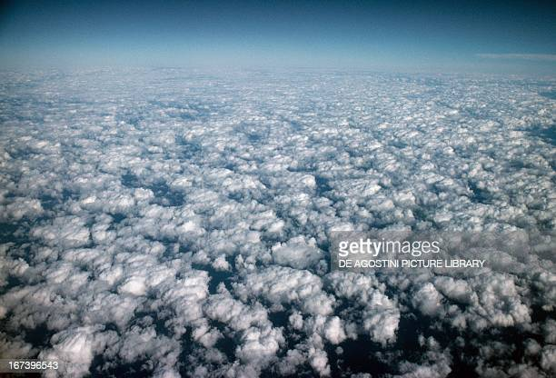 Altocumulus clouds seen from above