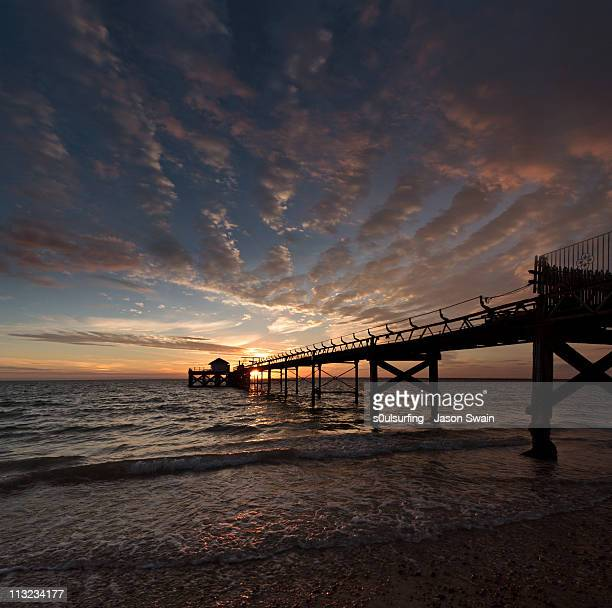 altocumulus sunset. - s0ulsurfing stock pictures, royalty-free photos & images